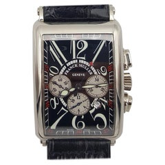 18 Karat White Gold Frank Muller Geneve Chronograph Watch Long Island Automatic