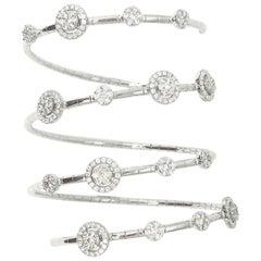 18 Karat White Gold Gilin Diamond Flexible Bracelet