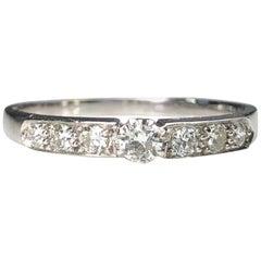 18 Karat White Gold Half Eternity Wedding Ring