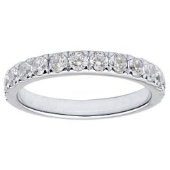 18 Karat White Gold Halfway Diamond Band