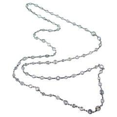 18 Karat White Gold Holland Rose Cut Diamond Longchain