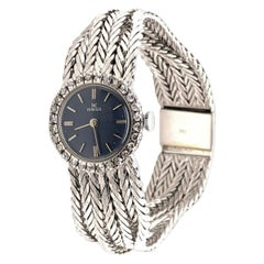 18 Karat White Gold HY MOSER Watch with Diamonds