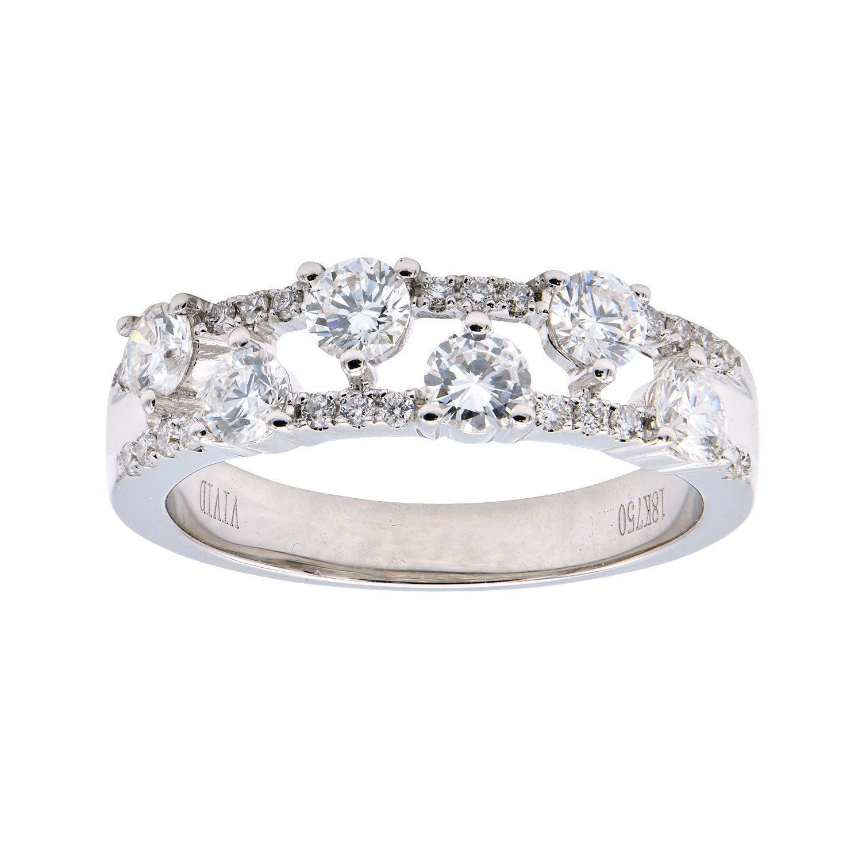 18 Karat White Gold Modern Band Ring