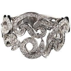 18 Karat White Gold Natan Designer Diamond Ring