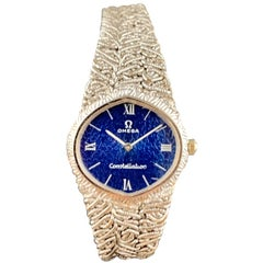 18 Karat White Gold Omega Constellation Ladies Watch