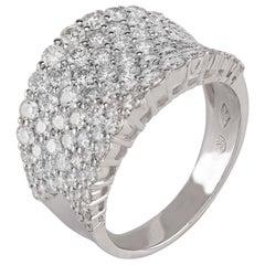 18 Karat White Gold Pavé Diamond Ring