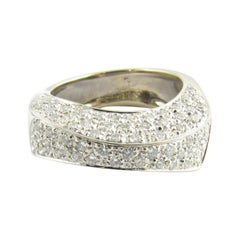 18 Karat White Gold Pave Diamond Ring