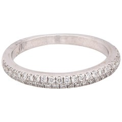 18 Karat White Gold Pave Set Diamond Band