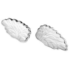 18 Karat White Gold Perseus Clip-On Earrings with Rock Crystals by the Artist