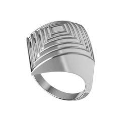 18 Karat White Gold Rhombus Row Ring