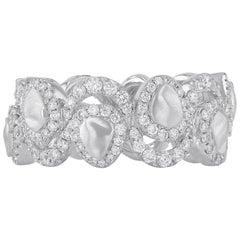 18 Karat White Gold Ring Matte 'In Stock'