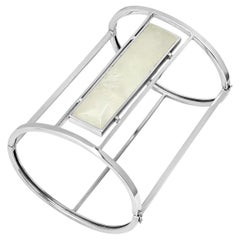 """FARBOD 18 Karat White Gold Rock Crystal Bracelets """"Cleo"""""""