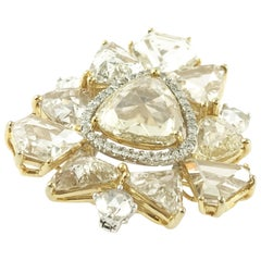 18 Karat White Gold Rose Cut Diamond Bangle
