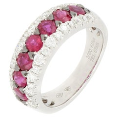 18 Karat White Gold Ruby and Diamond Ring
