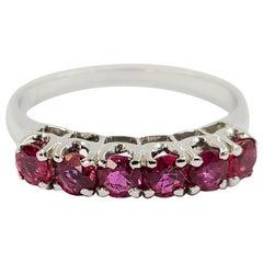 18 Karat White Gold Ruby Band Ring