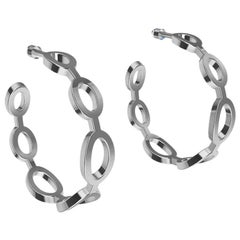 18 Karat White Gold Seven Oval Hoops