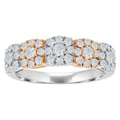 18 Karat White Gold Two-Tone Halo Fashion Ring '1 Carat'