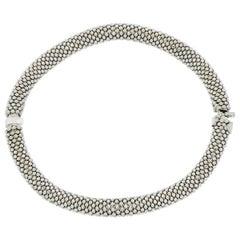 18 Karat White Gold Vezzaro Classic Bangle Bracelet