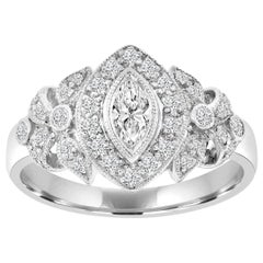 18 Karat White Gold Vintage Marquise Diamond Ring '0.52 ct. tw'