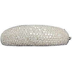 18 Karat White Gold with 16 Carat of Diamonds Bangle