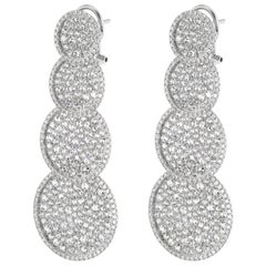 18 Karat White Gold with Diamond Dangle Earring