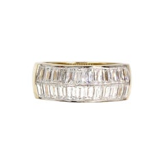 18 Karat Wide Baguette Band Ring