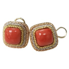"18 Karat Yellow and Tricolor Gold ""Italian"" Coral from Sorento Italy"
