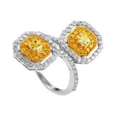 18 Karat Yellow and White Gold 2.17 Carat Diamond Ring