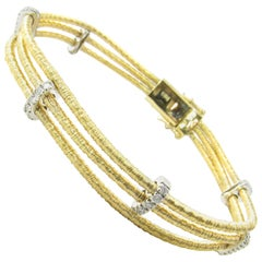18 Karat Yellow and White Gold and Diamond Bracelet