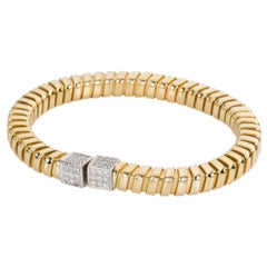 18 Karat Yellow and White Gold Carlo Weingrill Verona Diamond Bracelet