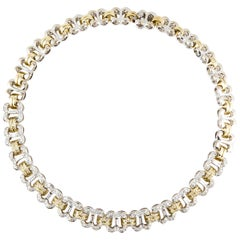 18 Karat Yellow and White Gold Diamond Necklace