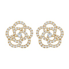 18 Karat Yellow Diamond Earrings 2 Carat