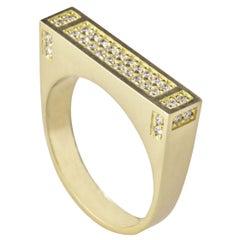 18 Karat Yellow Gold 0.26 Carat Diamond Pavé MLG 36 Ring