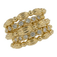 18 Karat Yellow Gold 0.52 Cttw Diamond Nutmeg Collection Band Ring by Gumuchian