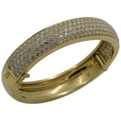 18 Karat Yellow Gold 10.00 Carat of Pavé Diamonds Kurt Wayne Bangle