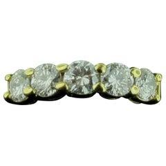 18 Karat Yellow Gold 1.65 Carat Diamond Band