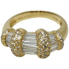 18 Karat Yellow Gold 1.72 Carat Diamond Ring by Ponte Vecchio
