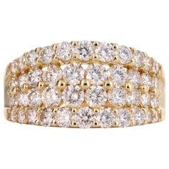 18 Karat Yellow Gold 2.00 Carat Round Brilliant Diamond Ring