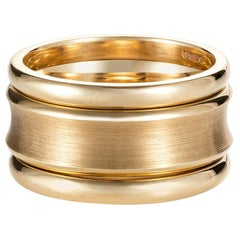 Minka, Yellow Gold 3 Band Statement Ring
