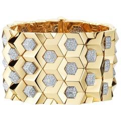 18 Karat Yellow Gold and Diamond 7.75 Carat Brillante Bracelet