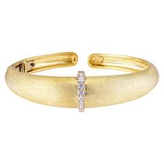 18 Karat Yellow Gold and Diamond 'AK Talisman' Cuff