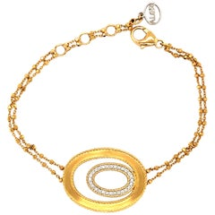 18 Karat Yellow Gold and Diamond Bracelet