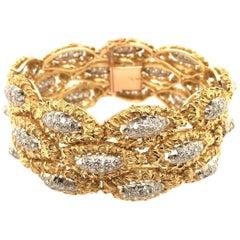 18 Karat Yellow Gold and Diamond Bracelet