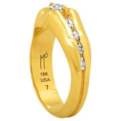 "FARBOD 18 Karat Yellow Gold and Diamond Cocktail Ring ""Venus"""