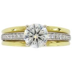 18 Karat Yellow Gold and Diamond Engagement Ring