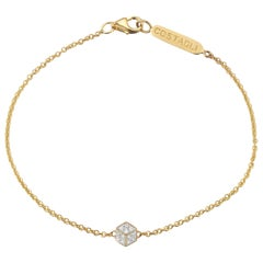 18 Karat Yellow Gold and Diamond Natalie Bracelet