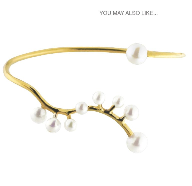 Contemporary 18 Karat Yellow Gold and Pearls Necklace For Sale
