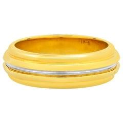 "FARBOD 18 Karat Yellow Gold and Platinum Wedding Ring ""Noble"" 'Unisex'"