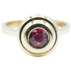 18 Karat Yellow Gold and Ruby Ring