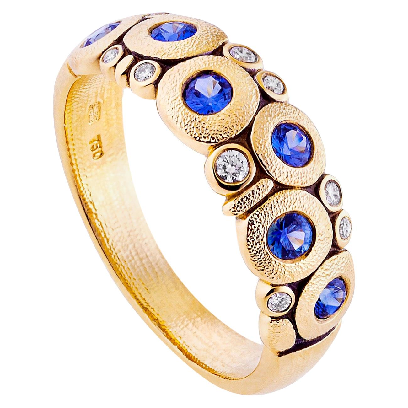 Alex Sepkus Yellow Gold and Sapphire Candy Ring
